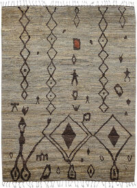 Geometric Tribal Shaggy Moroccan Area Rug 6x9