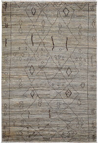 Tribal Geometric Shaggy Moroccan Area Rug 6x9