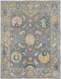 Floral Oushak Turkish Area Rug 8x10