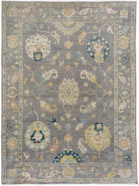 Floral Oushak Turkish Area Rug 10x14