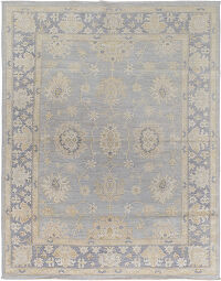 All-over Floral Oushak Turkish Area Rug 8x10