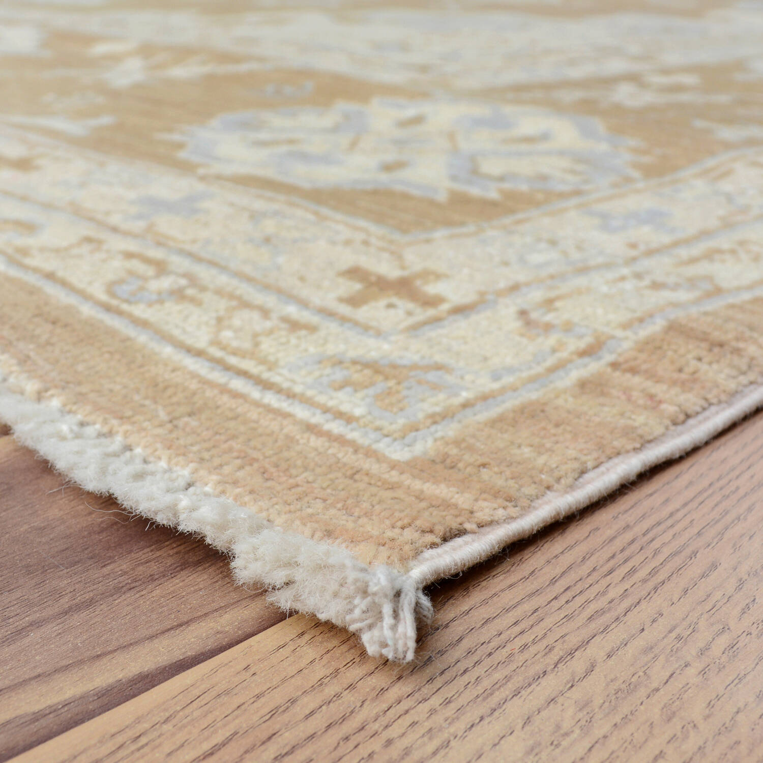 Muted Floral Oushak Turkish Area Rug 9x13 image 6