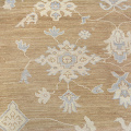 Muted Floral Oushak Turkish Area Rug 9x13 image 4