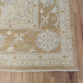 Muted Floral Oushak Turkish Area Rug 9x13 image 5