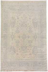 All-over Floral Oushak Turkish Area Rug 10x14