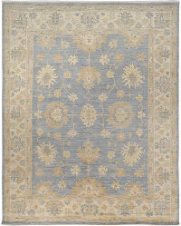 All-over Floral Oushak Turkish Area Rug 9x11