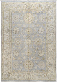 Muted Floral Oushak Turkish Area Rug 6x8