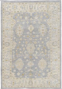 Muted Floral Oushak Turkish Area Rug 5x8
