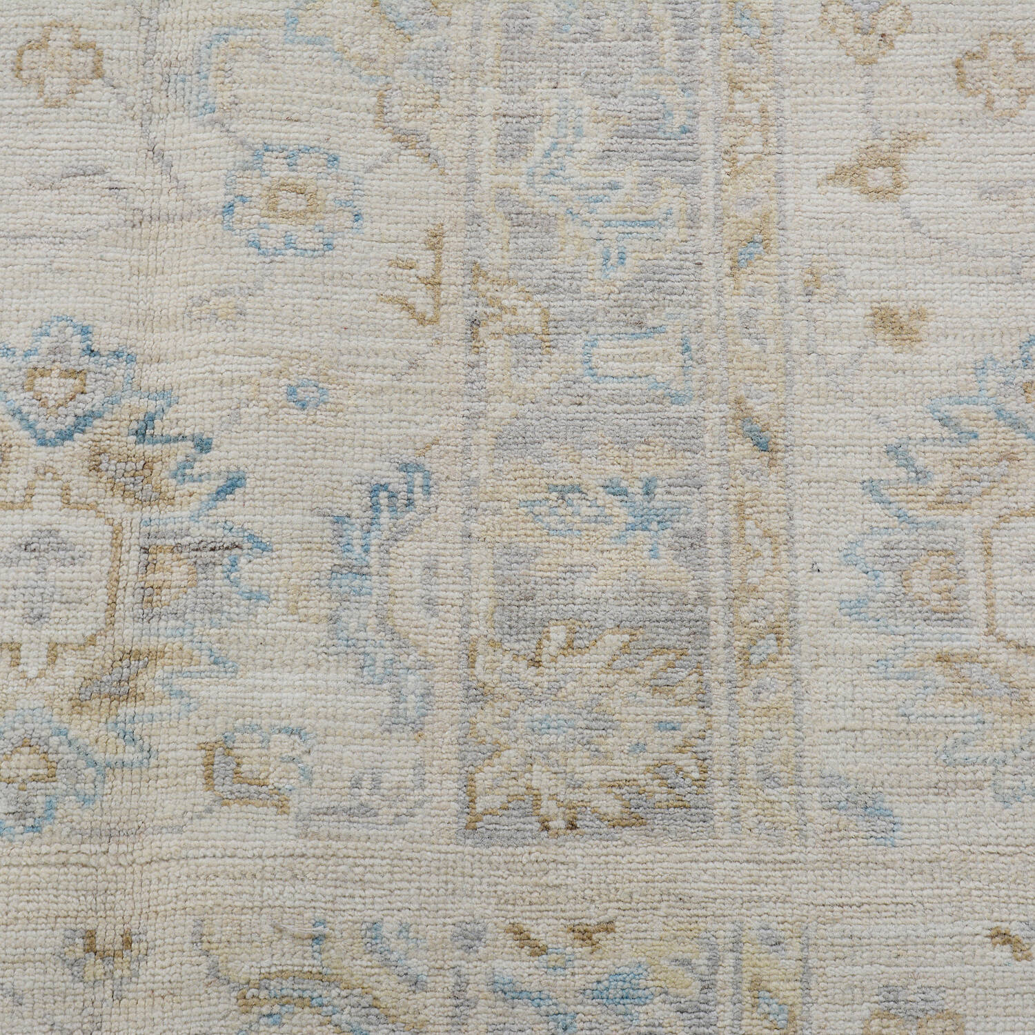 Muted Floral Oushak Turkish Area Rug 5x6 image 4