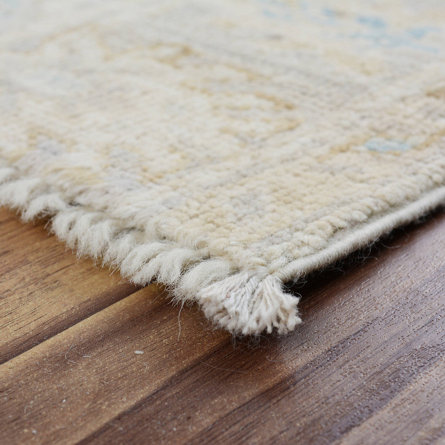 Muted Floral Oushak Turkish Area Rug 5x6 image 5