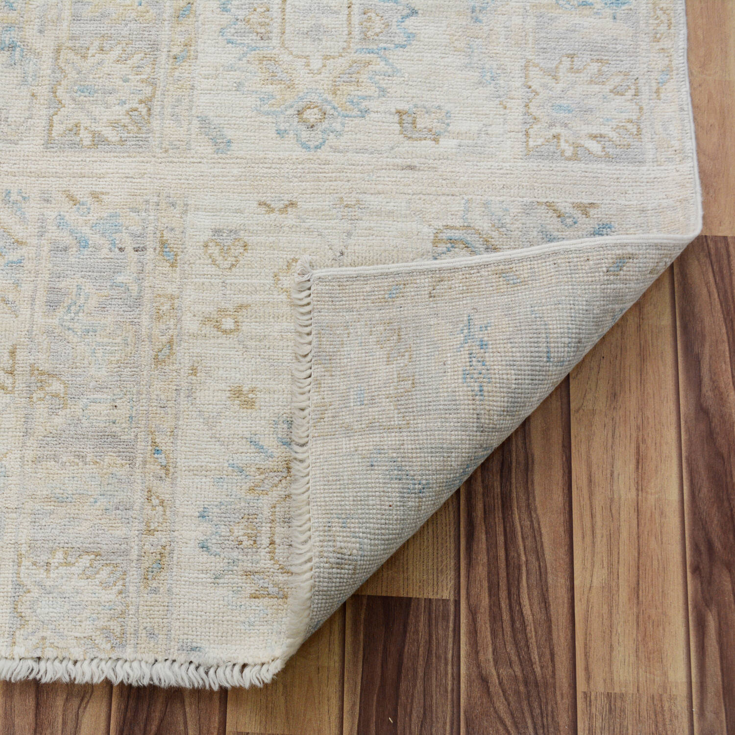 Muted Floral Oushak Turkish Area Rug 5x6 image 6