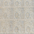 Muted Floral Oushak Turkish Area Rug 5x6 image 3