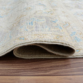 Muted Floral Oushak Turkish Area Rug 5x6 image 7