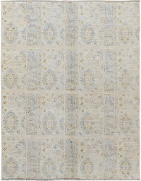 Muted Floral Oushak Turkish Area Rug 5x6