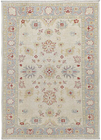 Muted Floral Oushak Turkish Area Rug 4x6