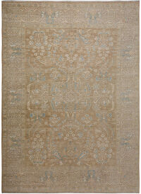 Floral All-Over Oushak Turkish Area Rug 9x12