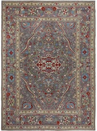 Floral Oushak Turkish Area Rug 9x12