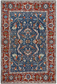 Floral Oushak Turkish Area Rug 9x13