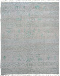 Tribal Geometric Moroccan Area Rug 8x10