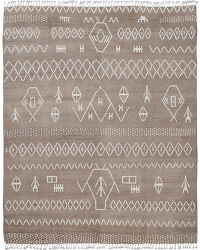 Tribal Brown Moroccan Area Rug 8x10