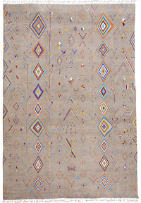 Tribal Geometric Moroccan Area Rug 10x14