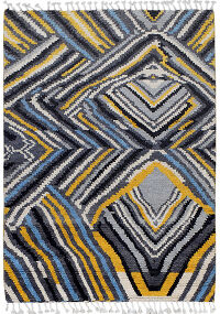 Abstract Moroccan Modern Area Rug 4x6
