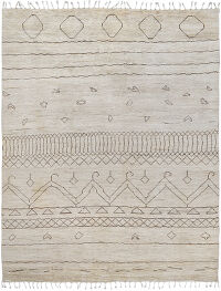 Ivory Tribal Moroccan Area Rug 8x10