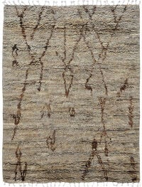 Thick Plush Tribal Shaggy Moroccan Oriental Area Rug 5x8