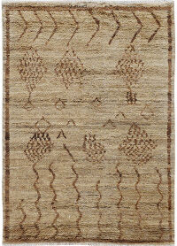 Thick Plush Tribal Shaggy Moroccan Area Rug 5x8