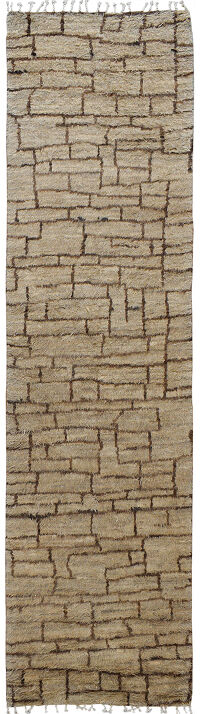 Checkered Thick Plush Shaggy Moroccan Runner Rug 3x12