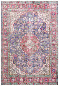 Geometric Tabriz Persian Distressed Area Rug 10x12