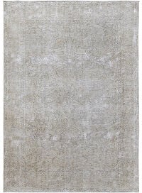 Antique Muted Floral Muted Tabriz Persian Distressed Area Rug 6x9