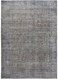 Muted Antique Over Dyed Floral Kerman Persian Distressed Area Rug 9x12
