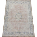 Antique Muted Floral Medallion Kerman Persian Distressed Area Rug 10x13 image 2