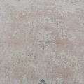 Antique Muted Floral Medallion Kerman Persian Distressed Area Rug 10x13 image 4