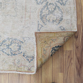 Antique Muted Floral Medallion Kerman Persian Distressed Area Rug 10x13 image 7