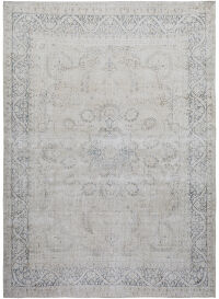 Antique Floral Kerman Muted Persian Distressed Area Rug 10x13