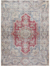 Antique Persian Distressed Kerman Area Rug 10x13