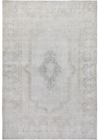 Antique Muted Kerman Distressed Persian Area Rug 9x12