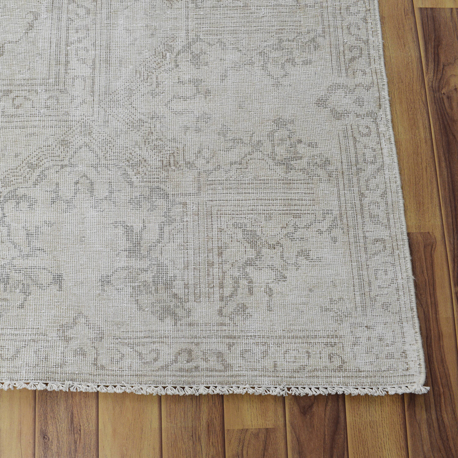 Antique Muted Kerman Distressed Persian Area Rug 9x12 image 5