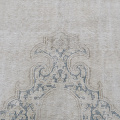 Antique Muted Kerman Distressed Persian Area Rug 9x12 image 4