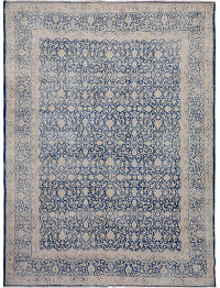Over Dyed Antique All-over Floral Kerman Persian Area Rug 10x13