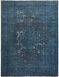Distressed Antique Over-Dyed Tabriz Persian Area Rug 10x13