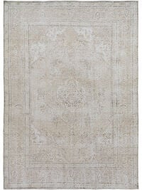Antique Muted Floral Tabriz Distressed Persian Area Rug 8x11