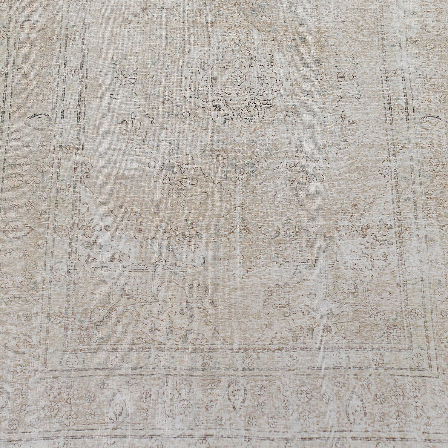 Antique Muted Floral Tabriz Distressed Persian Area Rug 8x11 image 3