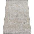Antique Muted Floral Tabriz Distressed Persian Area Rug 8x11 image 2
