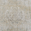Antique Muted Floral Tabriz Distressed Persian Area Rug 8x11 image 4