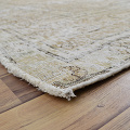 Antique Muted Floral Tabriz Distressed Persian Area Rug 8x11 image 6