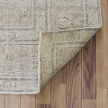 Antique Muted Floral Tabriz Distressed Persian Area Rug 8x11 image 7