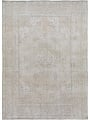 Antique Muted Floral Tabriz Distressed Persian Area Rug 8x11 image 1